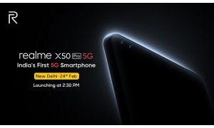 Realme launching Realme X50 Pro 5G in India on February 24 with Super AMOLED 90Hz display, Snapdragon 865 SoC, 32 MP Dual punch-hole camera, 12GB LPDDR5 RAM