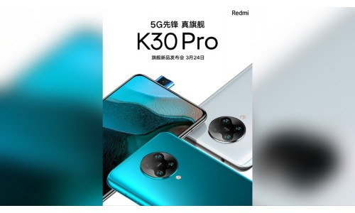 Redmi K30 Pro 5G launch in China on March 24 with Pop-up Selfie camera, AMOLED display, 180Hz touch rate, Snapdragon 865, Game Turbo 3.0