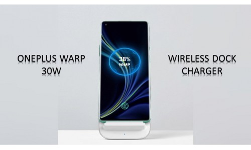 OnePlus Warp 30W Wireless Dock Charger has surfaced with 30W wireless charging, Cooling fan along with Transparent Bumper Case, Screen Protector.
