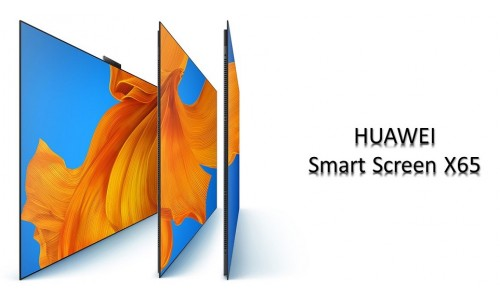 HUAWEI has introduced Smart Screen X65 TV with 65-inch 4K HDR OLED display, 120Hz Refresh Rate, 24 MP Ultra-Wide AI Pop-Up Camera, 75W 14-Speaker Under-display.