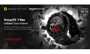 Amazfit T-Rex launching in India soon on Amazon with 1.3-inch AMOLED screen, military-grade durability, 20 days battery life