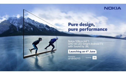 Nokia 43-inch 4K HDR LED Smart Android TV launching in India on June 4 with Dolby Vision, JBL audio