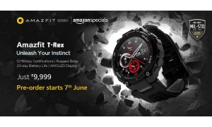 Amazfit T-Rex launched in India at Rs.9999 on Amazon with 1.3-inch AMOLED screen, military-grade durability