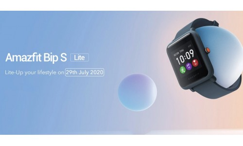 Amazfit Bip S Lite launching in India on July 29 for Rs. 3799 with 1.28-inch color touch display, up to 30 days battery life