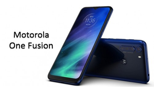 Motorola One Fusion announced with 6.5-inch Max Vision display, 48MP quad rear cameras, 5000mAh battery