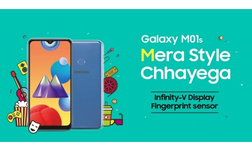 Samsung Galaxy M01s launched in India for Rs. 9,999 with 6.2-inch Infinity-V display, dual rear cameras