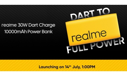 Realme 10000mAh 30W Dart Charge power bank to be launch in India on July 14.