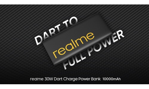 Realme 30W Dart Charge 10000mAh Power Bank launched in India for Rs. 1999 with Two-way charging