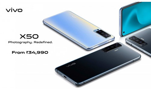 Vivo X50 and X50 Pro launched in India starting from Rs. 34990 with 6.56-inch FHD+ AMOLED 90Hz display, 48MP quad rear cameras