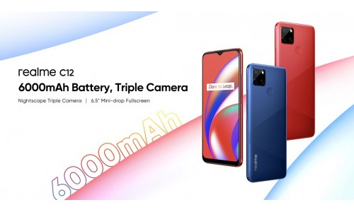 Realme C12 announced with 6.5-inch Mini-drop display, Helio G35 SoC, 6000mAh battery