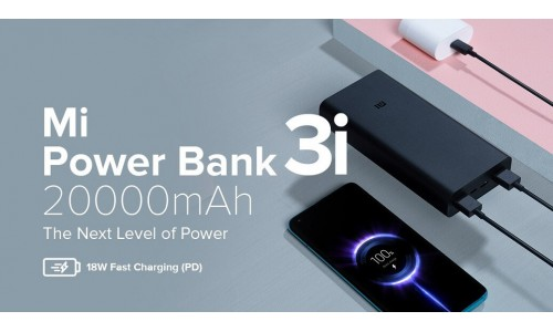 Xiaomi launched 10000mAh and 20000mAh Mi Power Bank 3i in India starting at Rs. 899 with 18W two-way fast charging