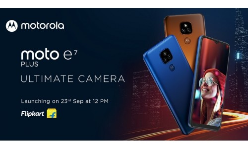 Moto E7 Plus launching in India on September 23 with 6.5-inch MaxVision display, Snapdragon 460 SoC, 5000mAh battery