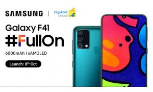 Samsung Galaxy F41 launching in India on October 8 with 6.4-inch FHD+ AMOLED Infinity-U display, 6000mAh battery
