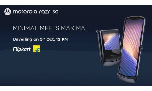 Motorola Razr 5G launching in India on October 5 with 6.2-inch foldable OLED 21:9 display, 2.7-inch external OLED display