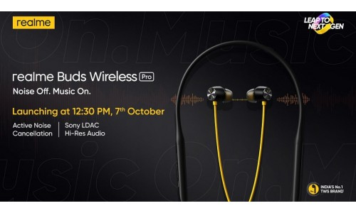 Realme Buds Wireless Pro and Buds Air Pro launching in India on October 7 with active noise cancellation, low latency