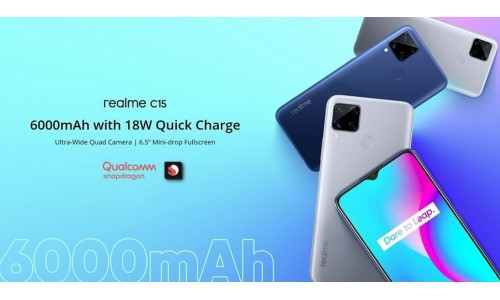 Realme C15 Qualcomm edition launched in India starting from Rs.9,999 with 6.5-inch display, Snapdragon 460 SoC, 6000mAh battery