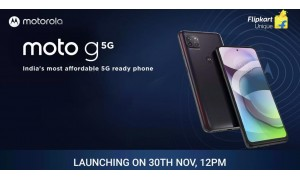 Moto G 5G launching in India on November 30 with 6.7-inch FHD+ display, Snapdragon 750G SoC