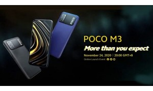 POCO M3 launching on November 24 with 6.53-inch FHD+ display, Triple rear cameras, 6000mAh battery