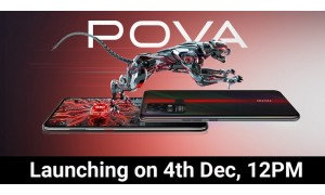 POVA by Tecno launching in India on December 4 with 6.8-inch Dot-In display, Helio G80 SoC, 6000mAh battery