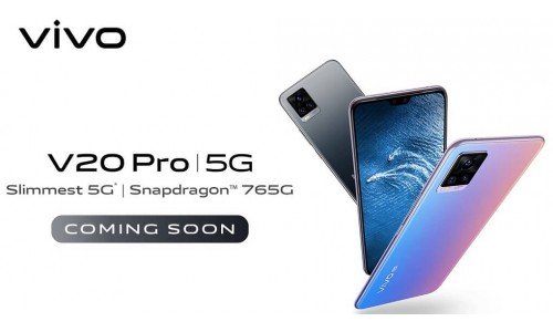 Vivo V20 Pro launching in India soon with 6.44-inch FHD+ AMOLED display, Snapdragon 765G 5G SoC