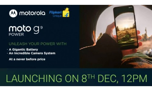 Moto G9 Power launching in India on December 8 with 6.8-inch display, 64MP triple rear cameras, 6000mAh battery