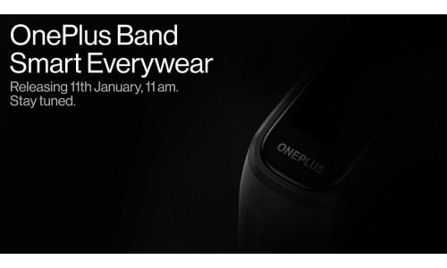 OnePlus Band will be launched on January 11 in India with SpO2 Monitoring