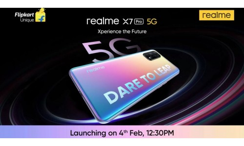 Realme X7 5G and Realme X7 Pro 5G launching in India on February 4 with 6.55-inch FHD+ 120Hz AMOLED display, Dimensity 1000+ SoC