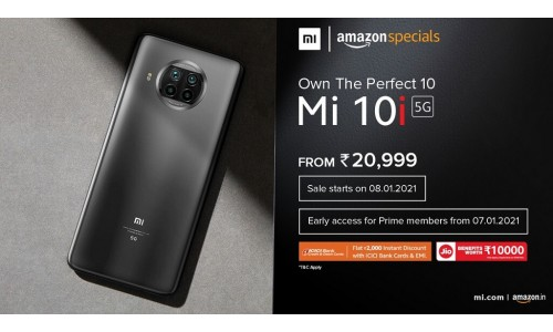 Xiaomi Mi 10i launched in India starting at Rs.20,999 with 6.67-inch FHD+ 120Hz display, Snapdragon 750G 5G, 108MP quad rear cameras