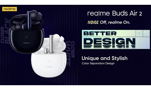 Realme Buds Air 2 launched in India at Rs.3,299 with Active Noise cancellation, Bluetooth 5.2