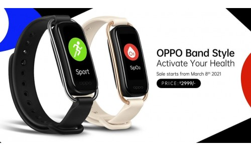 OPPO Band Style launched in India at Rs.2,999 with 1.1-inch AMOLED color screen, SpO2 monitoring, 12 workout modes