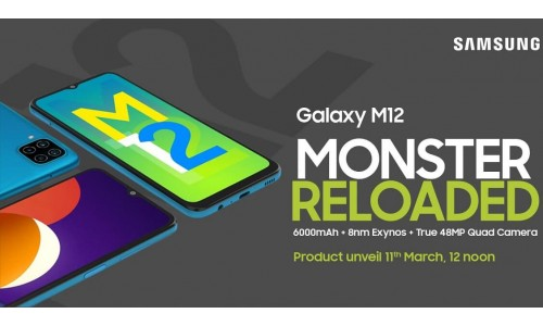 Samsung Galaxy M12 launching in India on March 11 with 6.5-inch Infinity-V 90Hz display, 48MP quad rear cameras, 6000mAh battery