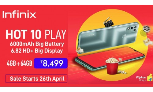 Infinix Hot 10 Play launched in India at Rs.8,499 with 6.82-inch display, Helio G35 SoC, 4GB RAM, 6000mAh battery