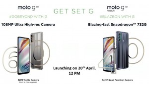 Moto G60 and Moto G40 Fusion launching in India on April 20 with 6.8-inch FHD+ 120Hz HDR display, 6000mAh battery