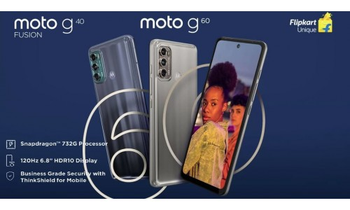 Moto G60 and Moto G40 Fusion launched in India starting at Rs.13,999 with 6.8-inch FHD+ 120Hz display, Snapdragon 732G SoC, 108MP Triple rear cameras
