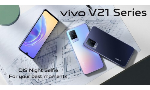 Vivo V21 5G launched with 6.44-inch FHD+ AMOLED 90Hz display, Dimensity 800U SoC, 44MP front camera with OIS alongside vivo V21e