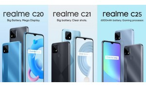 Realme C20, C21 and C25 launched in India starting at Rs.6,999 with 6.5-inch display, Helio G35/G70 SoC, Quad rear cameras