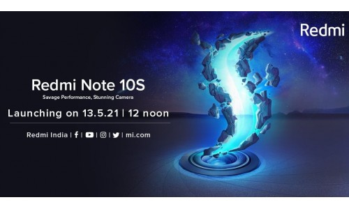 Redmi Note 10S launching in India on May 13 with 6.43-inch FHD+ AMOLED Display, Helio G95 SoC, 64MP quad rear cameras