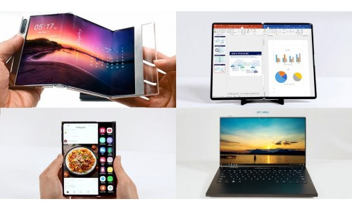 Samsung unveiled S-foldable, Slidable display, Under Panel Camera technology and 17-inch foldable tablet